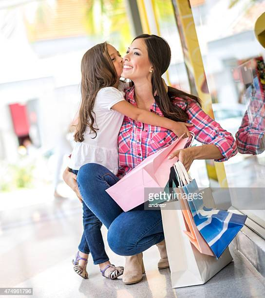 Shopping girls at the mall