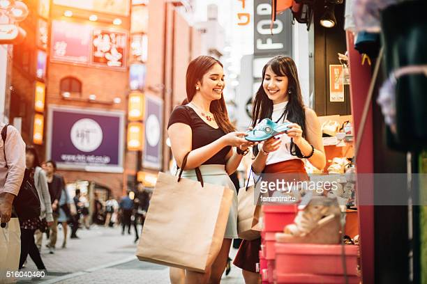 Shopping shoes with my best friend in Tokyo