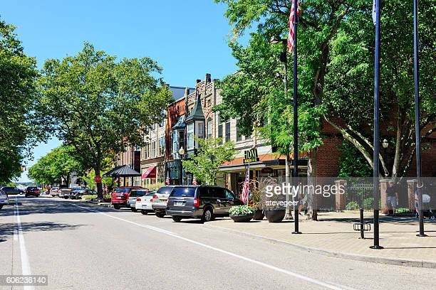 Shopping street in downtown Holland, Michigan