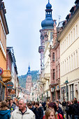 Shopping street in Heidelberg