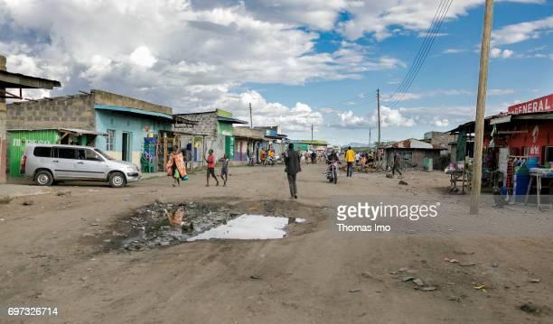 Shopping street in Talek on May 17 2017 in Talek Kenya