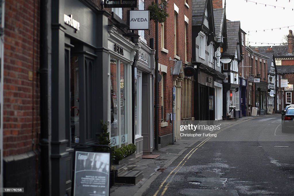 A shopping street in the Cheshire market town of Knutsford is empty on December 7, 2011 Knutsford, England. With a weak outlook at the start of the Christmas shopping boom, many retailers are slashing prices with the hopes of combating weak sales.