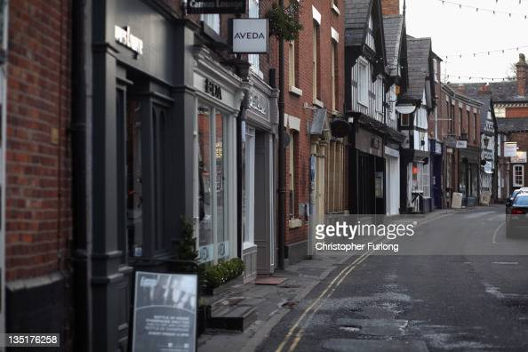 A shopping street in the Cheshire market town of Knutsford is empty on December 7 2011 Knutsford England With a weak outlook at the start of the...