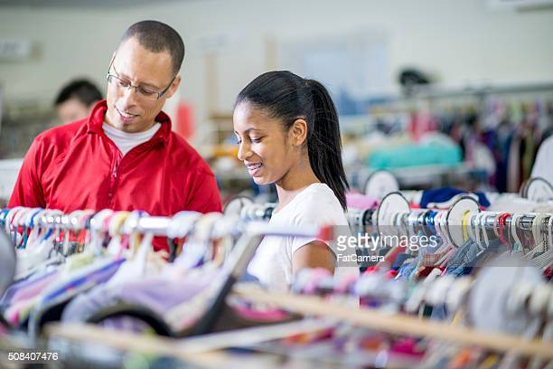 Shopping Together at a Thrift Store