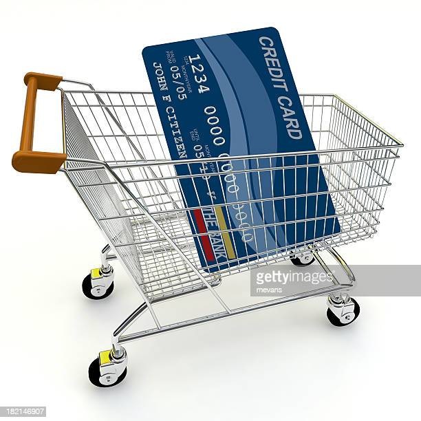 Shopping Trolley with Credit Card