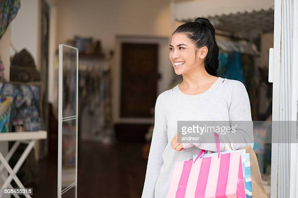 Shopping woman at a store