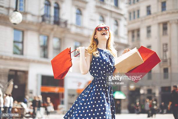 Shopping woman in the city