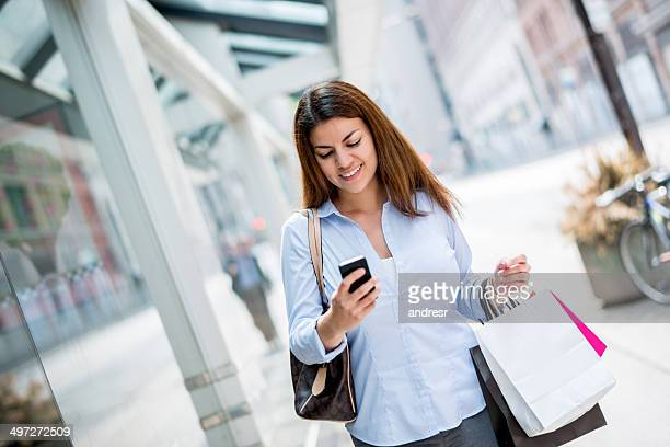 Shopping woman on the street