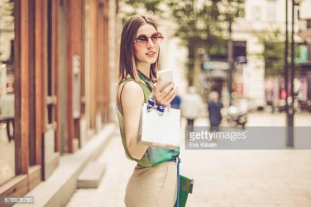 Mujer de compras