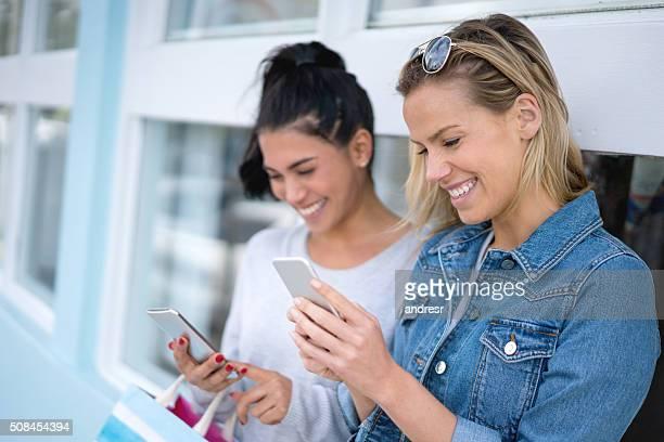 Shopping women social networking