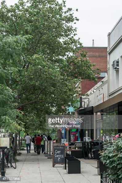 Shops along Columbia Road near Ontario 17 June 4 2015 in Washington DC