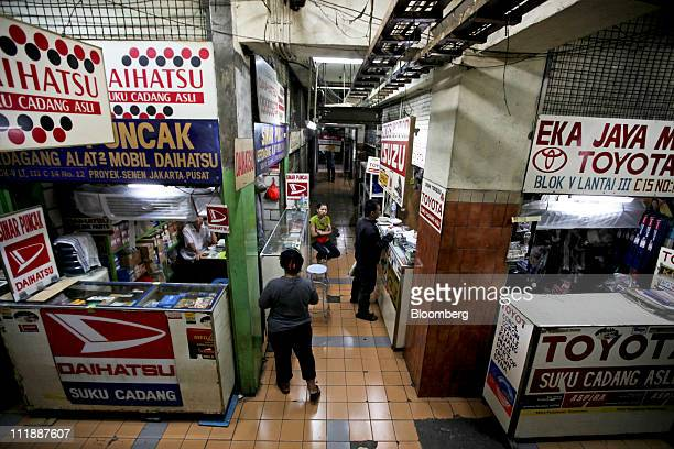 Shops in the Senen automotive spare parts market sell car parts in Jakarta Indonesia on Friday April 8 2011 Southeast Asia's auto industry may...