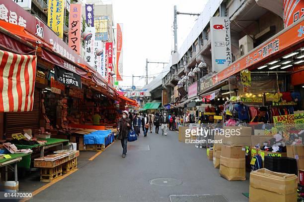 Shops of Ameyoko Market, Tokyo