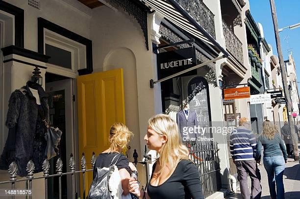 Shops on William Street, Paddington.