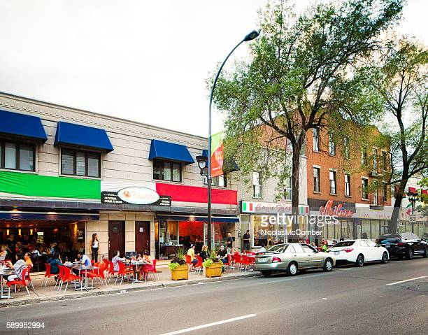 Commerces restaurants and terrasses in Montreal's La Petite Italie