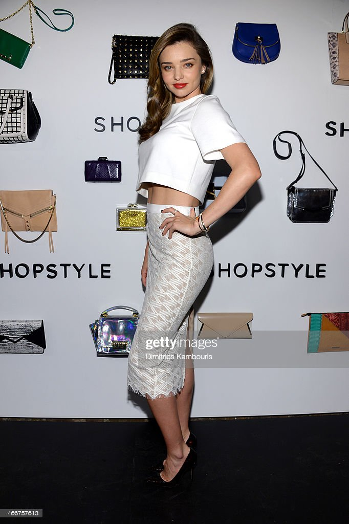 ShopStyle & Miranda Kerr Celebrate The Launch Of We Search. We Find. We ShopStyle on February 3, 2014 in New York City.