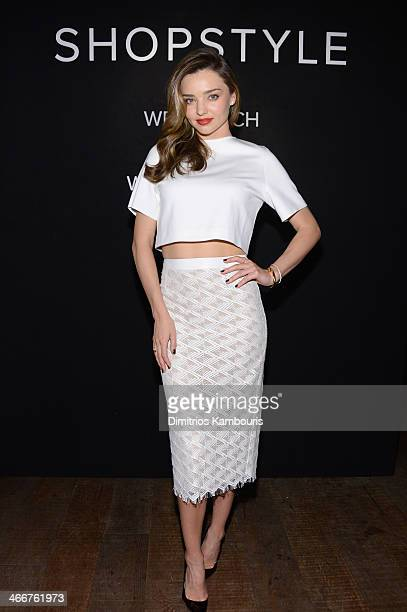 ShopStyle Miranda Kerr Celebrate The Launch Of We Search We Find We ShopStyle on February 3 2014 in New York City