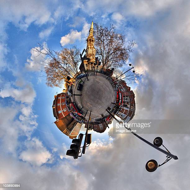 Shoreditch with little planet effect