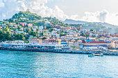 Coastline around St George's, Grenada, West Indies.