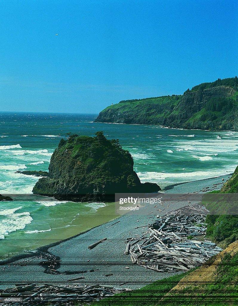 Short Beach and Cape Meares on the North Coast, Oregon, USA