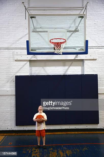 Short Boy Tall Basket