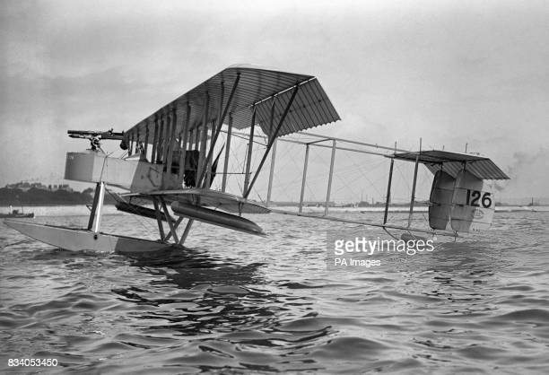 A Short Brothers S81 Seaplane as used during the air raid on the Zeppelin sheds at Cuxhaven Germany in December 1914