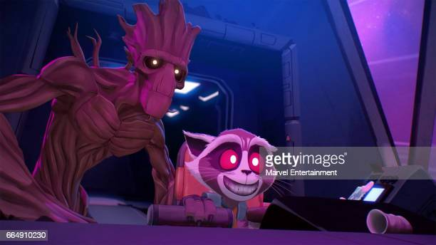 S ROCKET GROOT 'Short Cut' Based on a design by famed comic book artist Skottie Young and animated by 2017 Oscarnominated Passion Pictures the...