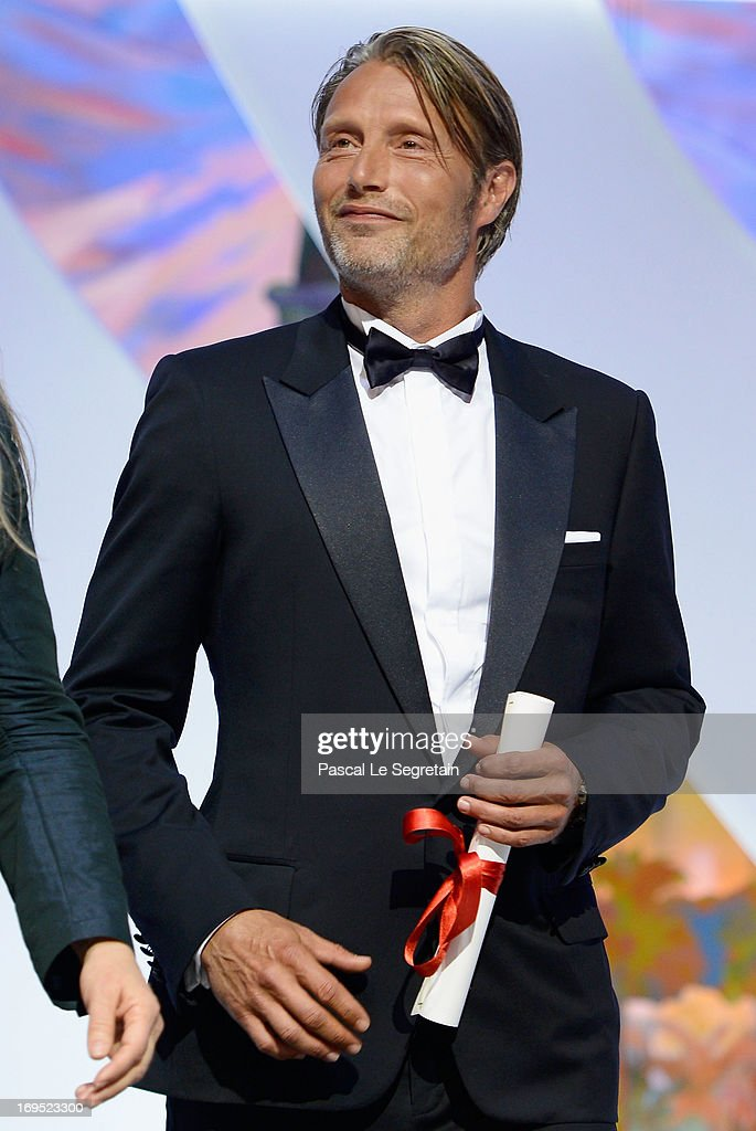 Short film jury and actor Mads Mikkelsen on stage at the Inside Closing Ceremony during the 66th Annual Cannes Film Festival at the Palais des Festivals on May 26, 2013 in Cannes, France.