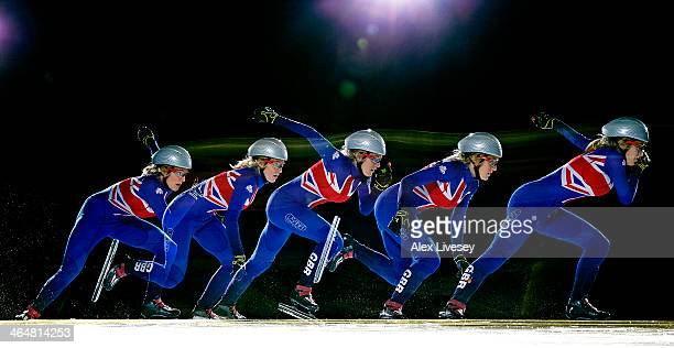 Short track speed skater for team GB Elise Christie is photographed on August 7 2013 in Nottingham England