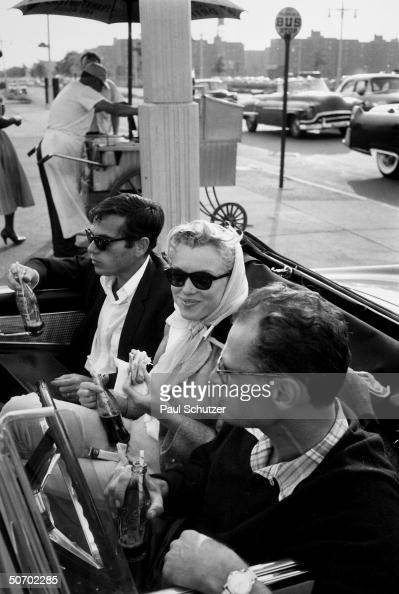 Shortly after their marriage American actress Marilyn Monroe and American playwright Arthur Miller along with Monroe's close friend American...