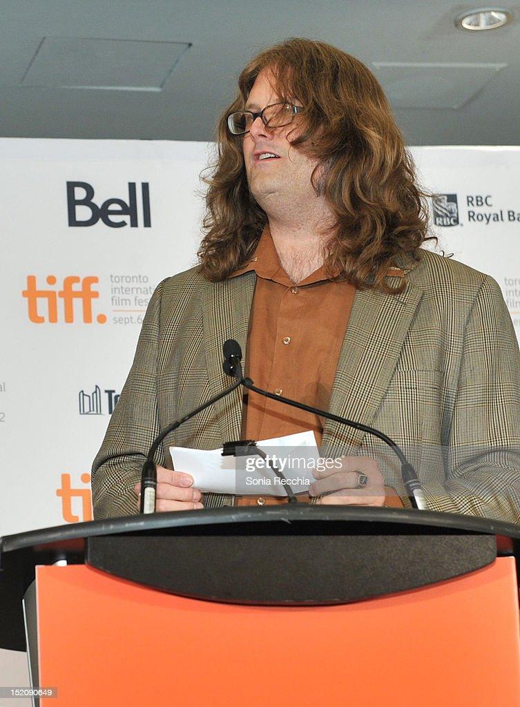 Shorts Jury memeber Reginald Harkema speaks at the 37th Toronto International Film Festival Award Winner Ceremony held at the InterContinental Toronto Center Hotel on September 16, 2012 in Toronto, Canada.
