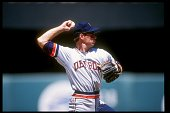 Shortstop Alan Trammell of the Detroit Tigers throws the ball during a game