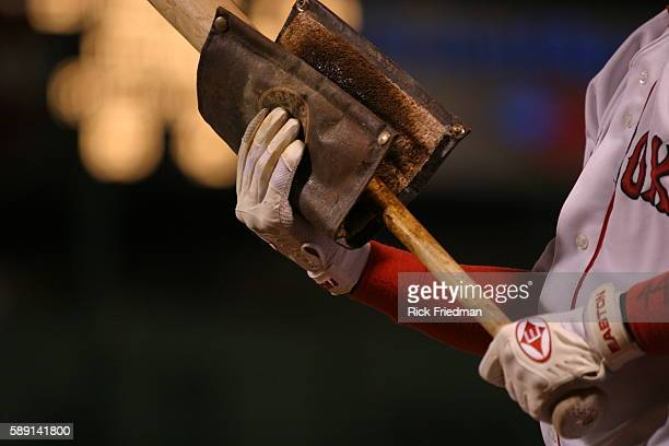 Shortstop Orlando Cabrera uses pine tar on his bat during the Boston Red Sox 54 victory over the New York Yankees at Fenway Park in game 5 of the...