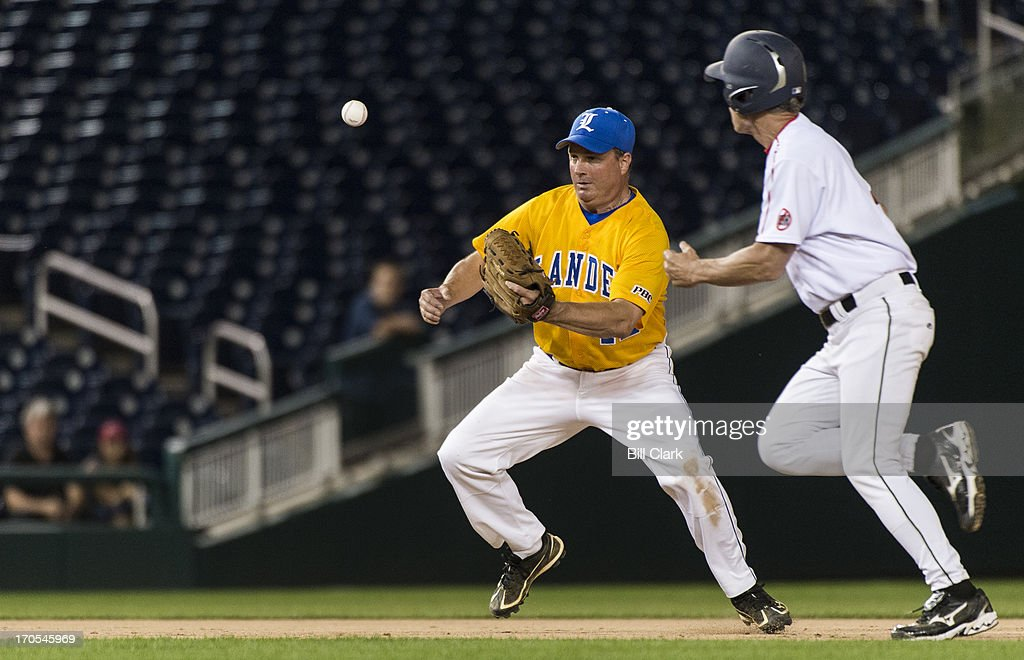 GOP shortstop Rep. Jeff Duncan, R-Fla., fields a ground ball during the 52nd annual Congressional Baseball Game at national Stadium in Washington on Thursday, June 13, 2013.
