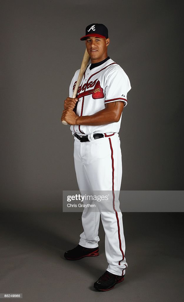 Shortstop Yunel Escobar of the Atlanta Braves poses for a photo during Spring Training Photo Day on February 19 2009 at Champions Stadium at Walt...