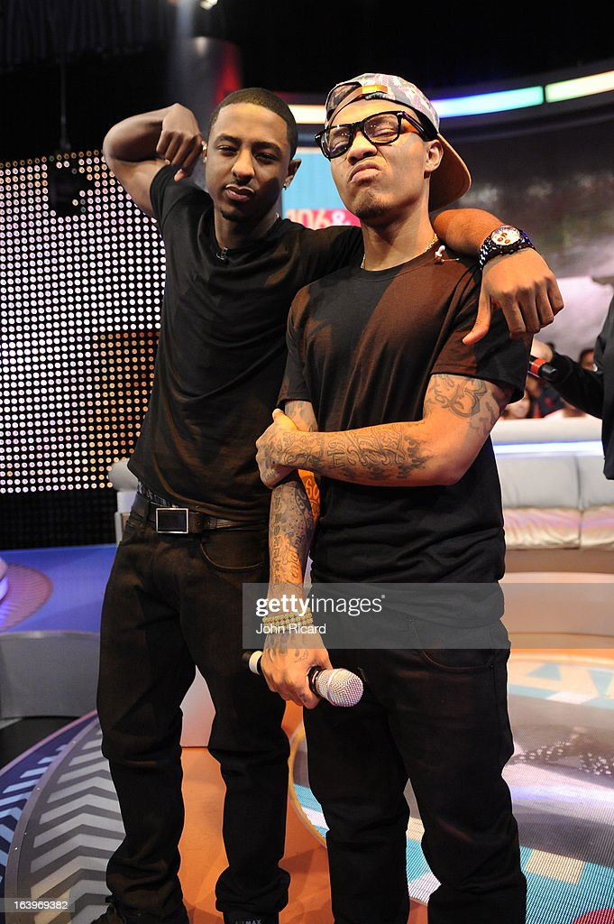 Shorty Da Prince and Bow Wow at BET's 106 & Park Studio on March 18, 2013 in New York City.