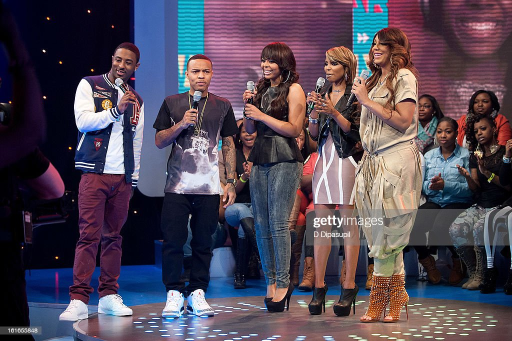 Shorty Da Prince, Bow Wow, Paigion, Miss Mykie, and Tamar Braxton visit BET's '106 & Park' at BET Studios on February 13, 2013 in New York City.
