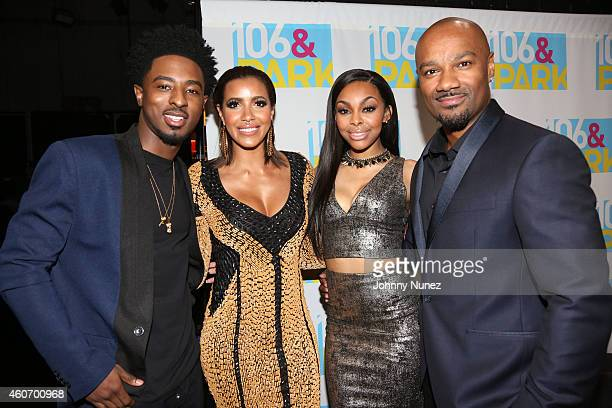 Shorty Da Prince Julissa Bermudez Kimberly Paigion Walker and Big Tigger attend The BET '106 Park' Finale at BET Studios on December 19 2014 in New...