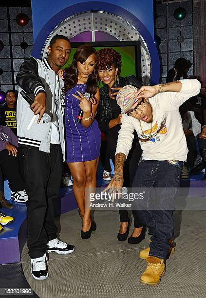 Shorty Da Prince Kimberly 'Paigion' Walker Miss Mykie and Bow Wow visit BET's '106 Park' at BET Studios on October 1 2012 in New York City