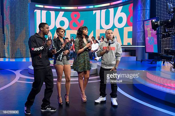 Shorty Da Prince Miss Mykie Paigion and Bow Wow host BET's '106 Park' at BET Studios on March 21 2013 in New York City