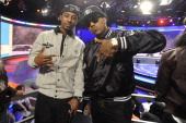 Shorty Da Prine and Problem visit BET's 106 Park at BET Studios on April 3 2013 in New York United States