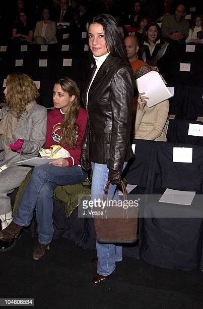 Shoshanna Lonstein during Fashion Week Luca Luca Fall/Winter 2001 Collection at Bryant Park in New York City New York United States
