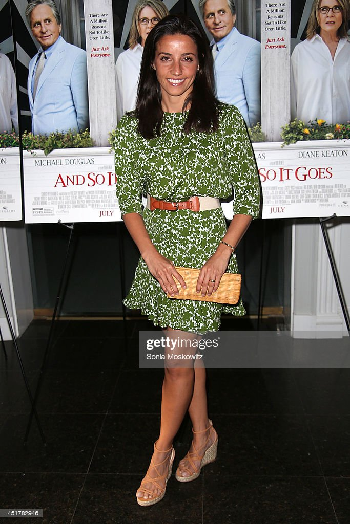 <a gi-track='captionPersonalityLinkClicked' href=/galleries/search?phrase=Shoshanna+Lonstein&family=editorial&specificpeople=212738 ng-click='$event.stopPropagation()'>Shoshanna Lonstein</a> Gruss attends the 'And So It Goes' premiere at Guild Hall on July 6, 2014 in East Hampton, New York.