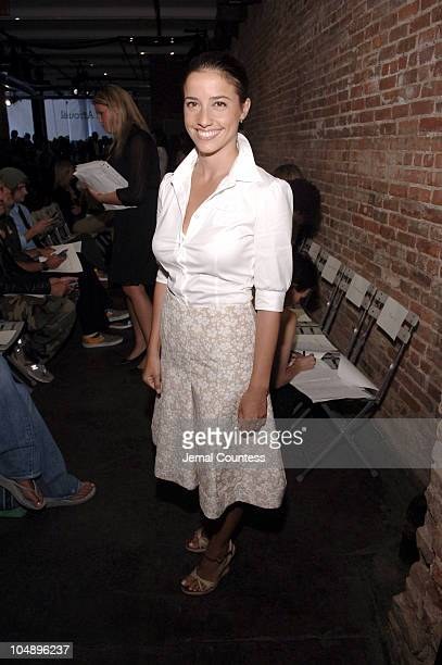 Shoshanna Lonstein Gruss front row backstage at Yigal Azrouel Spring 2006