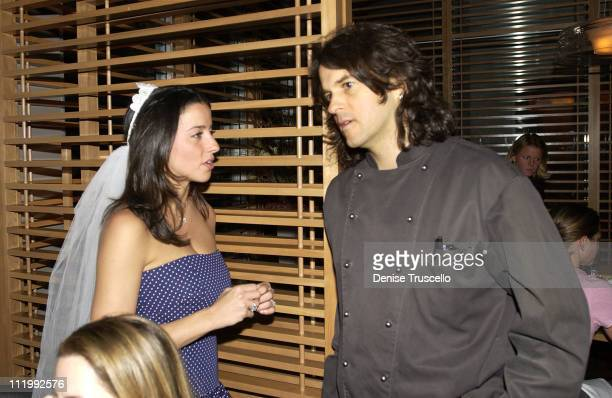 Shoshanna Lonstein With Chef Kerry Simon during Shoshanna Lonstein Bachelorette Dinner At Simon At The Hard Rock at Hard Rock Hotel in Las Vegas...