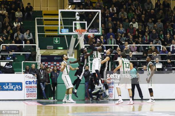 Shot basket ball of Quincy Diggs of CEZ Nymburk during third day of Champions League match between Sidigas Avellino v Cez Nymburk at Palasport...