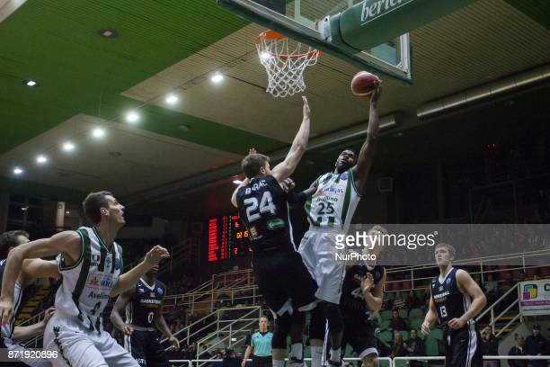 Shot basketball of Jason Rich of SIdigas Avellino during third day of Champions League match between Sidigas Avellino v Cez Nymburk at Palasport...