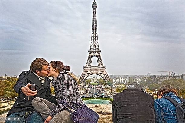 A shot from the Trocadero One thing is for sure if you are lovers in paris you forget about the multitude of people around you and just kiss in wild...