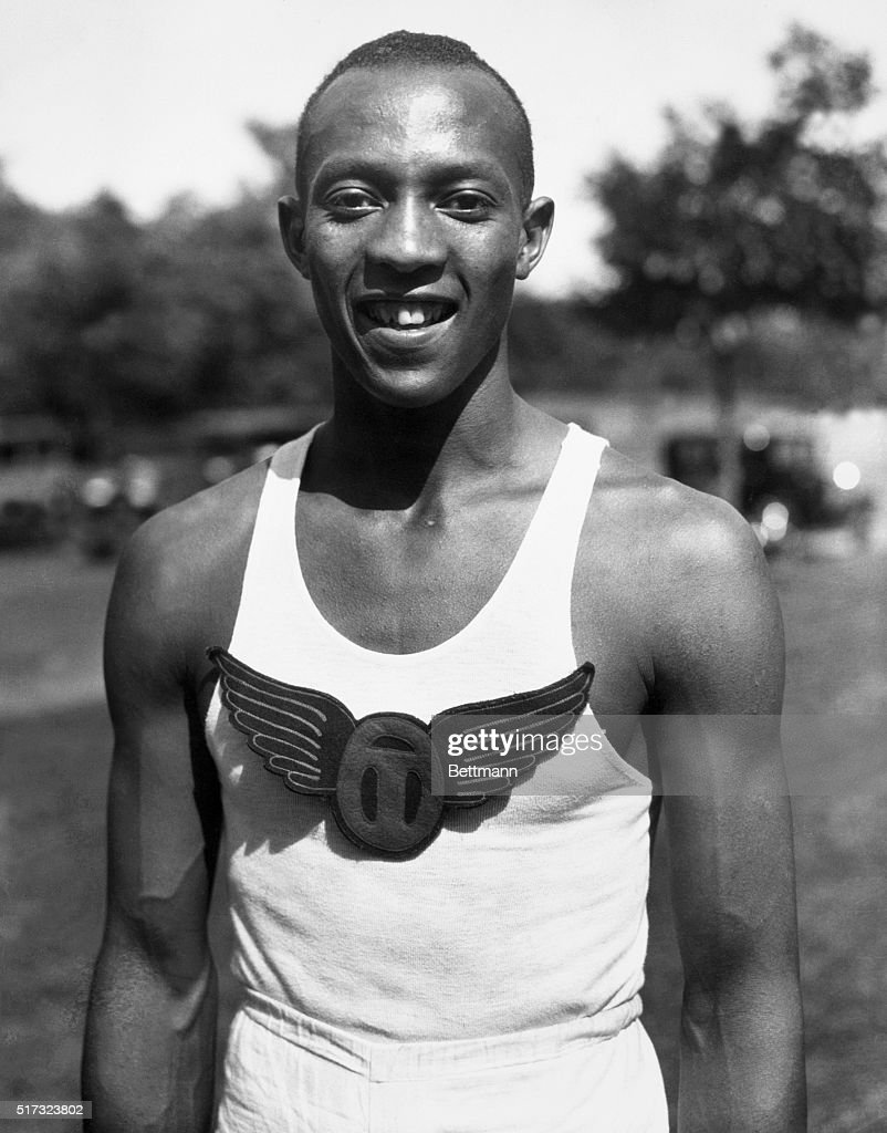 A shot of American athlete Jesse Owens.
