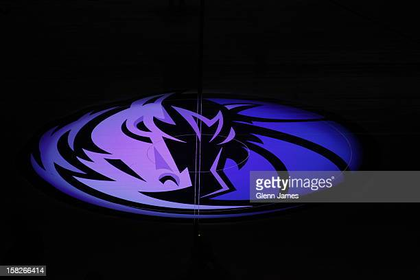 A shot of the Dallas Mavericks logo at center court before the game against the Charlotte Bobcats on November 3 2012 at the American Airlines Center...
